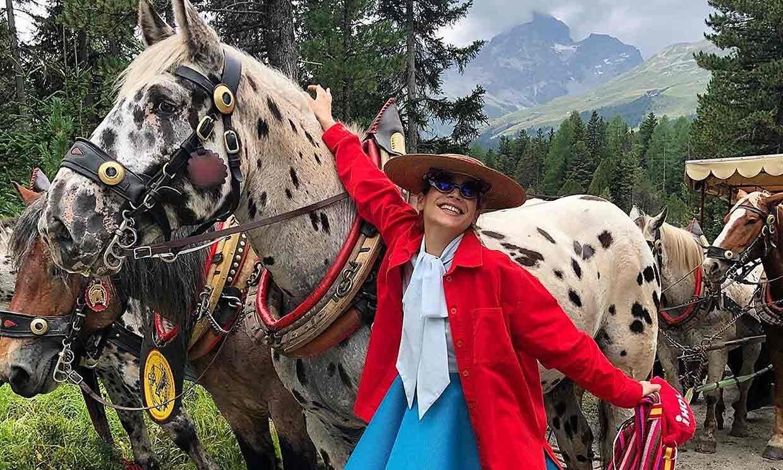 Cosima the ultimate Agatha Ruiz de la Prada ambassador at a friends wedding recently