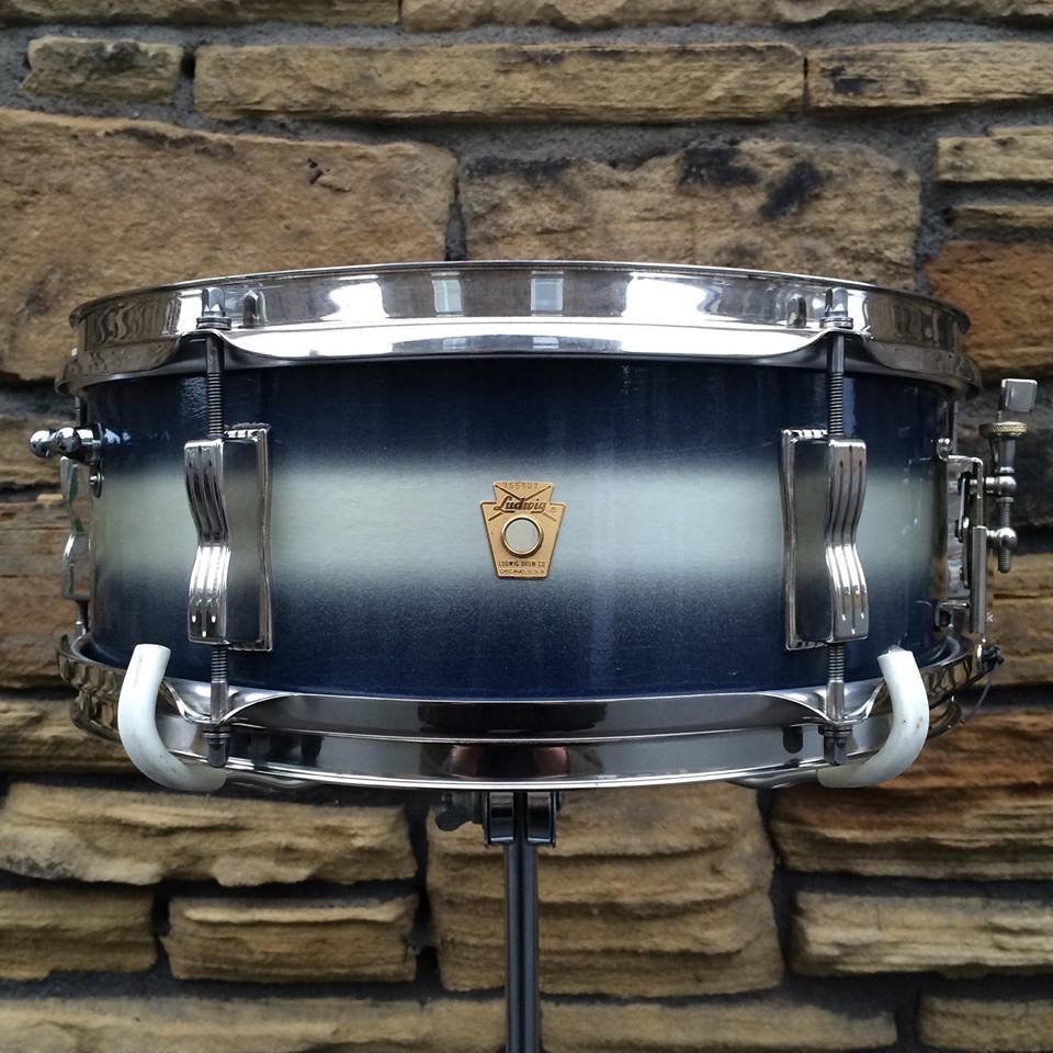 """1966 Ludwig Pioneer, 14x5"""" Snare in Blue & Silver Duco"""