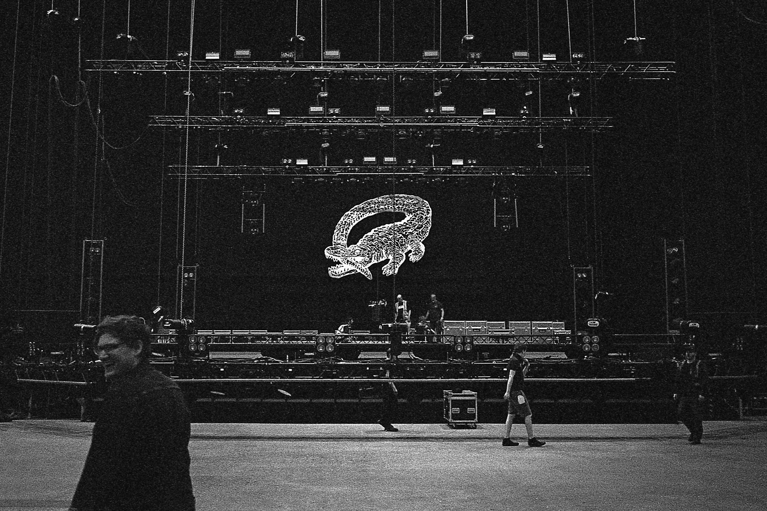 Liverpool Echo Arena load in, 2017.