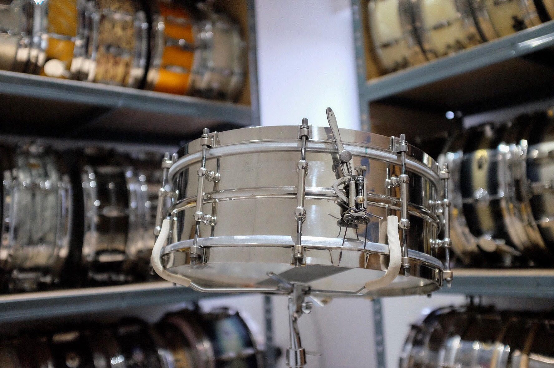 """1928 Ludwig 'All Round Model' 14x5"""" Nickel Over Brass. Restored in Spring 2018."""