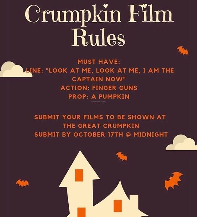 The Crumpkin Film Contest rules have been released! To submit, upload to YouTube and email a link to crumcommons@gmail.com!