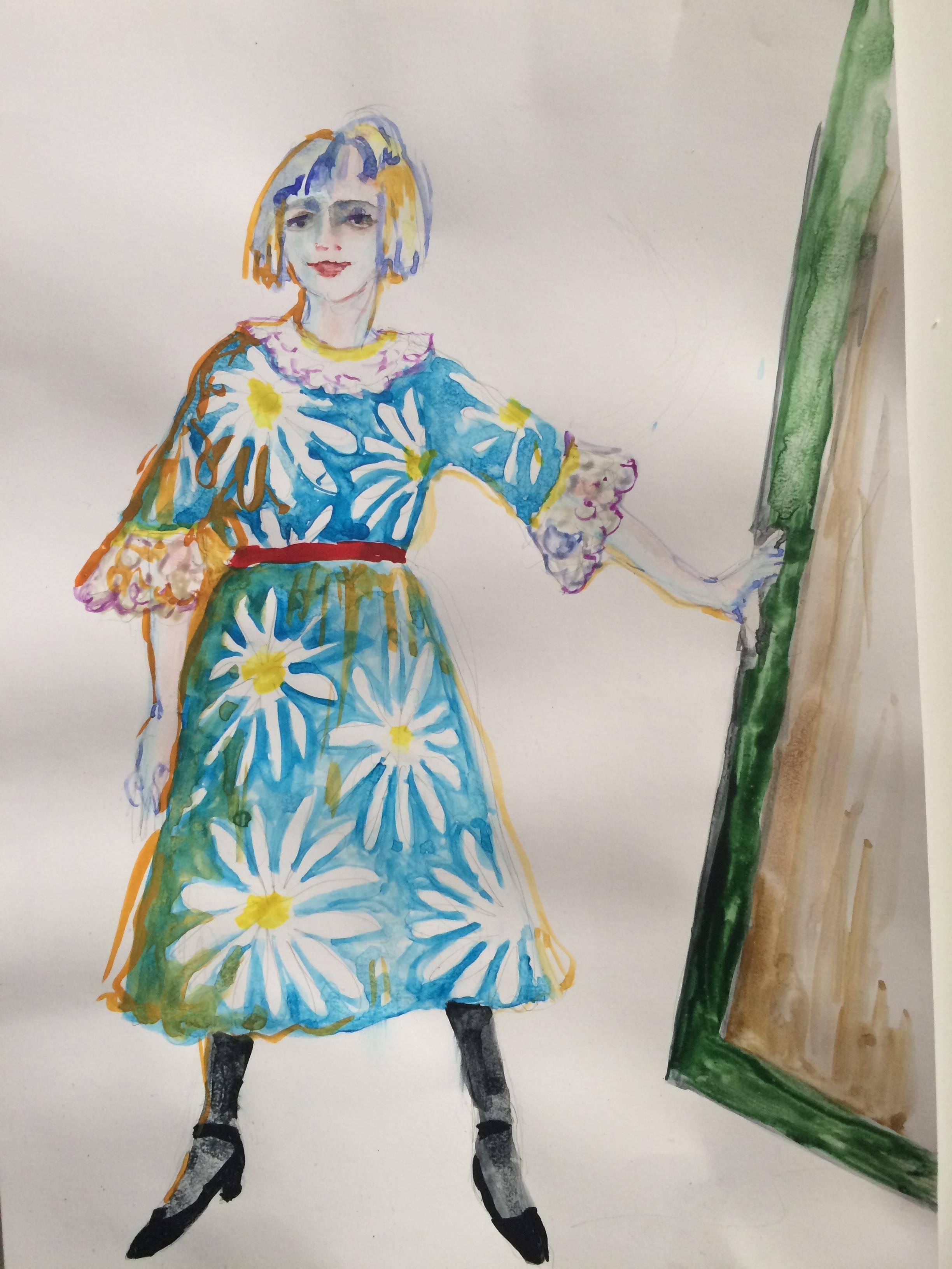 Jane Doe, act I. Sketch by Olga Maslova