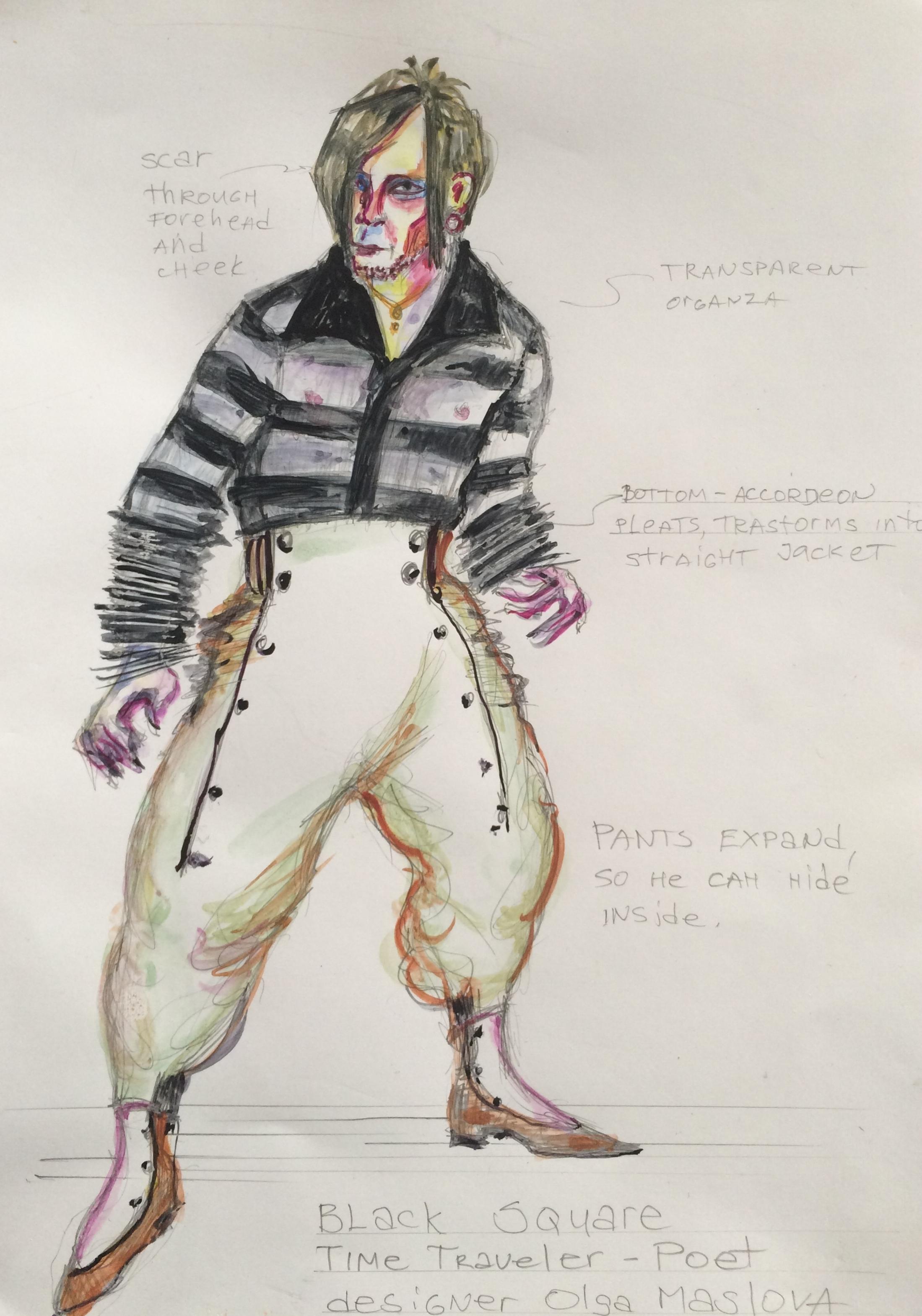 Time Traveler, costume sketch by Olga Maslova