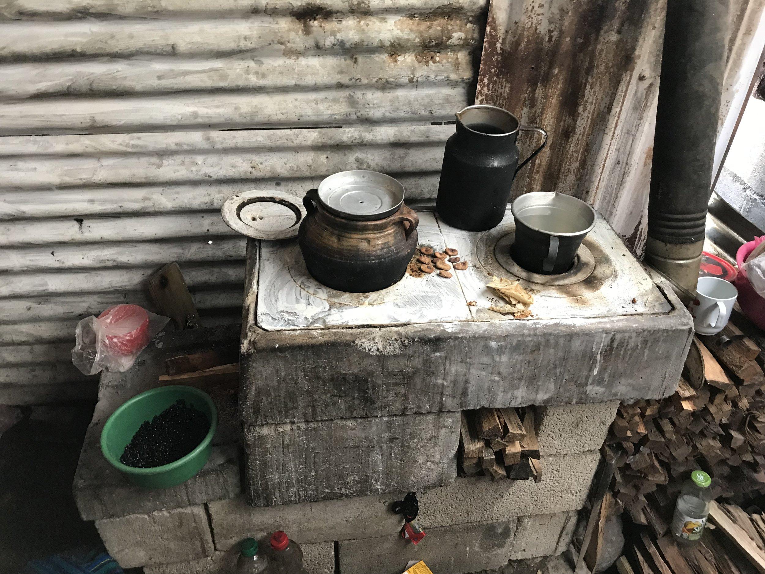 Older model wood burning stove