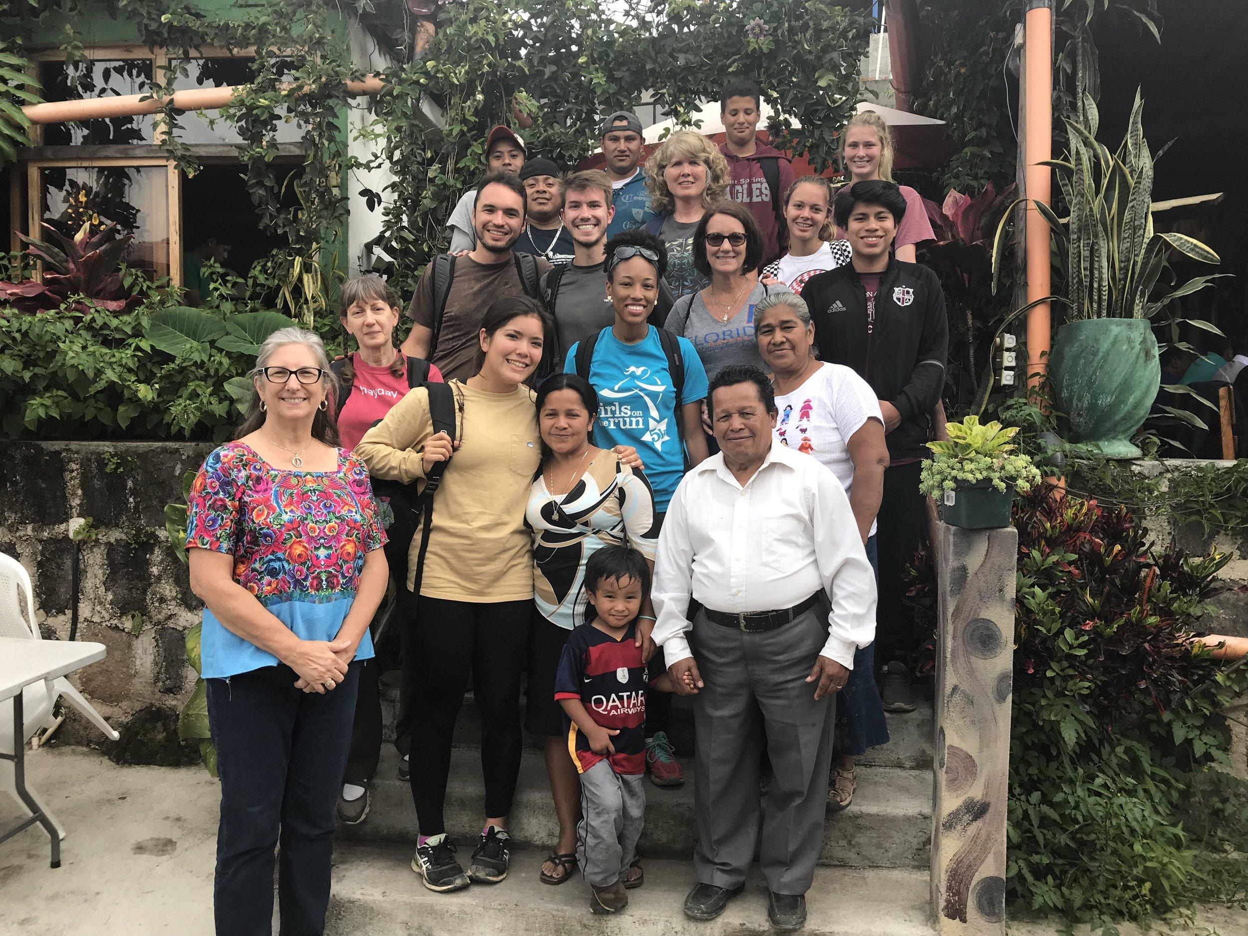Team + Pastor Trinidad, Rosa, Ely & kids