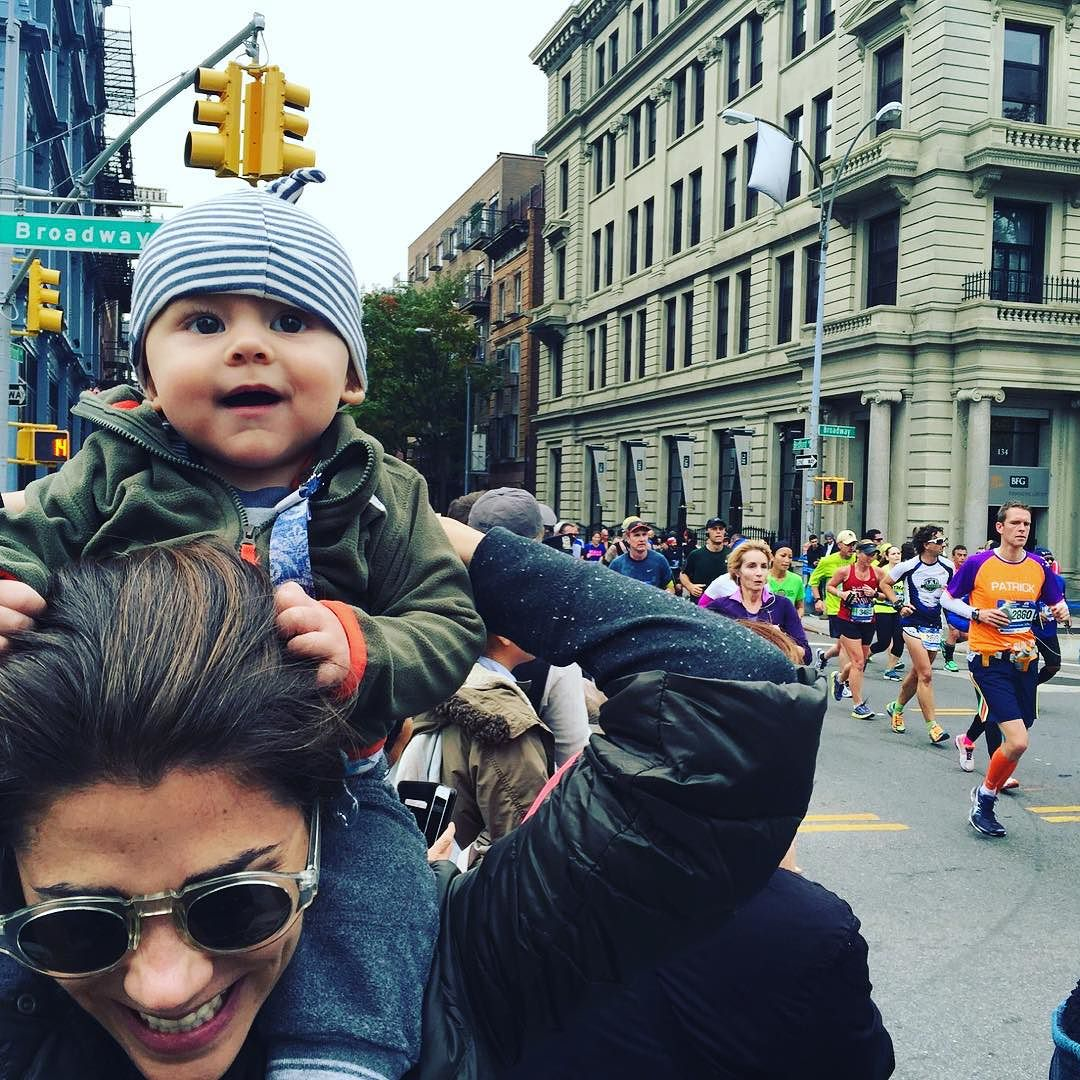 These #runners are such an #inspiration! Trying to soak it all up. Go #tcsnycmarathon!!!! Go @thelivmethod @kerrykimmcarthur!!! #nycmarathon #nycmarathon2015  http://ift.tt/1MAxQXn