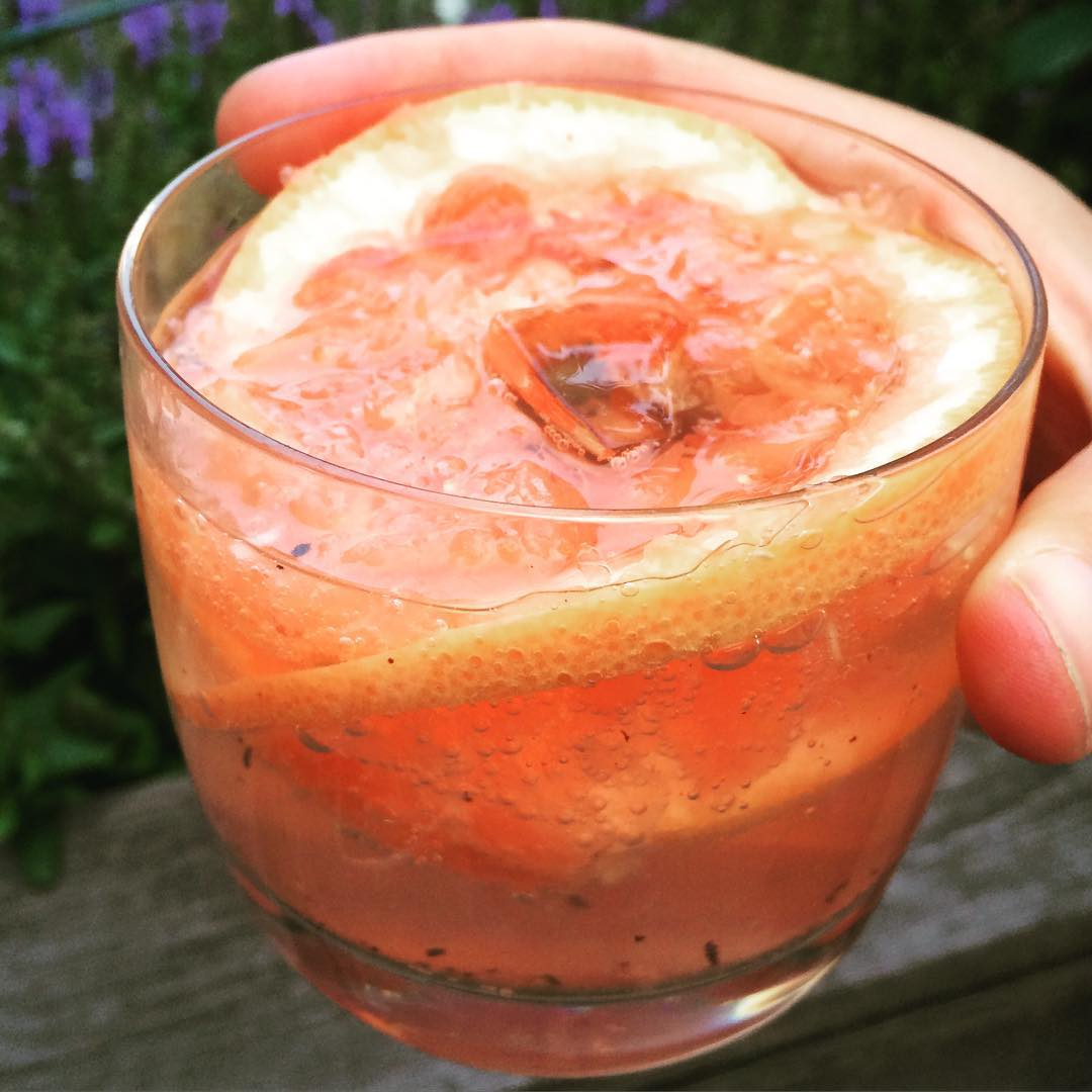 Getting ready for the #fourthofjuly?! Try my revised #Paloma (typical #Mexican #cocktail).   We all know #alcohol is bad for our health. That said, telling people not to drink is probably not going to be that effective. They will drink anyways… SO- my approach is #moderation and #improvement (#lesssugar, mainly).   #BuildingTheDrink:   Ingredients: #tequila or #mezcal, #grapefruit, #Agave (optional), #seltzer, S&P.   Muddle 2-3 pieces of grapefruit with 1 ounce of tequila, and ½ tsp of Agave). Grind a little S&P directly into the drink. Add ice and seltzer and mix. So good and only #80calories!!   NOTE: This is not the size of a regular shot. Usually every shot is 1.5 ounces. Which means… You can get away with drinking two :)  #skinnydrink #skinnypaloma   #bushwick #bushwicknutrition #lazynutrition #lazynutritionist #lightdrink