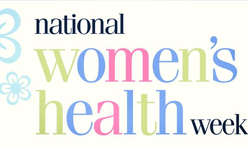 During Women's Health Week, starting on Mother's Day, celebrate yourself, your mom, your sister, your aunt, your friends, colleagues, and loved ones by reminding them about the five step checklist for better health.     National Women's Health Week is coordinated by the U.S. Department of Health and Human Services with the purpose of promoting and empowering women to make their health a priority. Women often act as caregivers for their families, putting their personal needs and well-being on the backburner. Whether the checklist helps to remind you about your yearly mammogram or encourages you to eat an extra serving of vegetables, take this week to reevaluate and go through the five steps to lower your disease risk and improve your overall health.          Step 1: Visit your health care professional. Depending on your age and family history, you may need to receive yearly checkups or go for preventative screenings. Check out this interactive screening chart , which goes through bone, breast, diabetes, heart and reproductive health, specific to age.          Step 2: Get moving. 150 minutes of moderate-intensity aerobic exercise and physical activity per week such as walking, bicycling, ballroom dancing and moderate housework provide tremendous health benefits. Short activities can also add up. Walk 10-minutes during lunch hour or take the stairs instead of the elevator and make every step count!              Step 3: Eat healthy and balance your diet. A recent study found that over time, a mere 100-calorie reduction per day may help maintain a healthier body. Therefore, small changes can make all the difference. Some ideas on how to eat healthier:     o     Eat more vegetables. Most women should have about 2.5 servings of vegetables a day, where 1 serving= 1 cup raw, cooked or frozen, 1 cup vegetable juice or 2 cups raw leafy greens.     o     Don't drink your calories. The Nurses' Health Study found that, on average, women who reduced their intake of sugar-sweetened