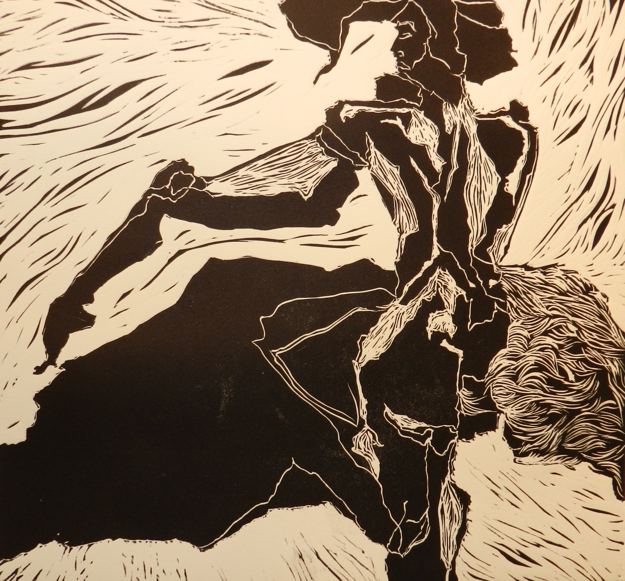 Relief print on paper. 2011