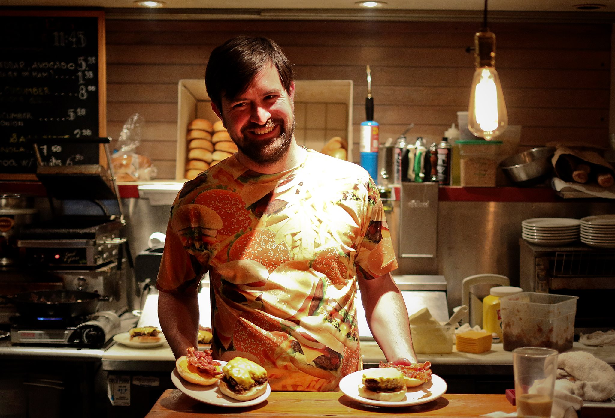Wes Rowe, owner and chef of WesBurger 'N' More