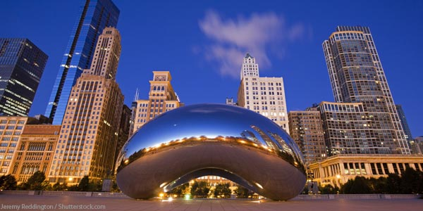 """""""The Bean"""". Image from TheChicagoTraveler.com"""