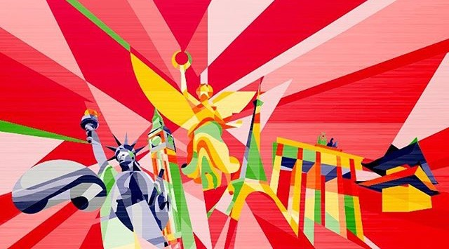 World Marathon Major city illustration. Image from Carlos (Plon) Sanchez @ploncito. Mexico City, Mexico