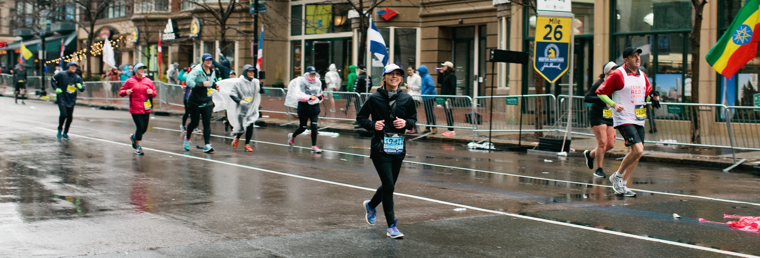 Mile 26 of the 2018 Boston Marathon. Photo by Tina Florance
