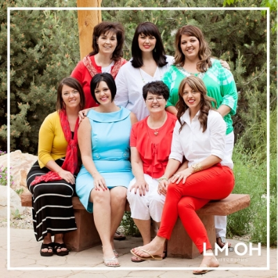 """All 6 of us girls shown here with mom have names that begin with the letter """"L"""" and a middle initial """"M""""."""