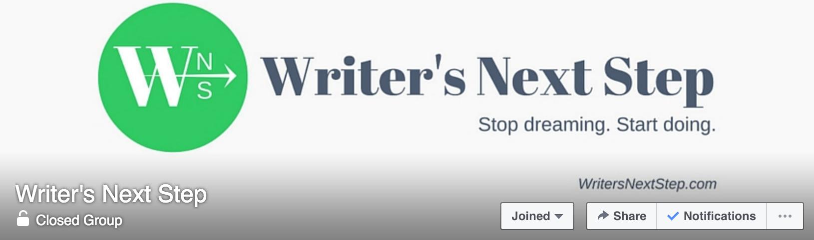 Writer's Next Step Facebook Group