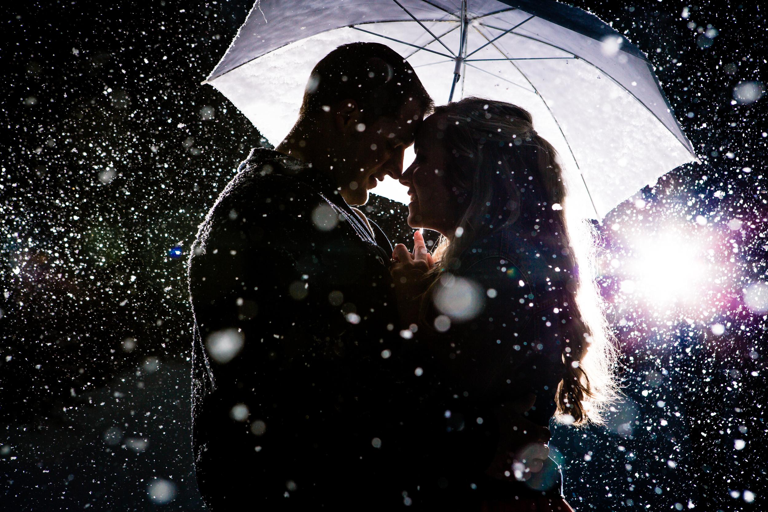 Lily Lake   Estes Park, Colorado   JMGant Photography   Snowy Engagements   Umbrella  www.jmgantphotography.com