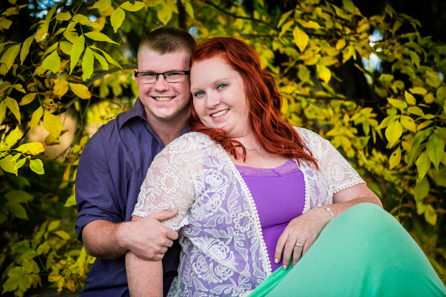 Fall engagements at Sandstone Ranch Park in Longmont Colorado.