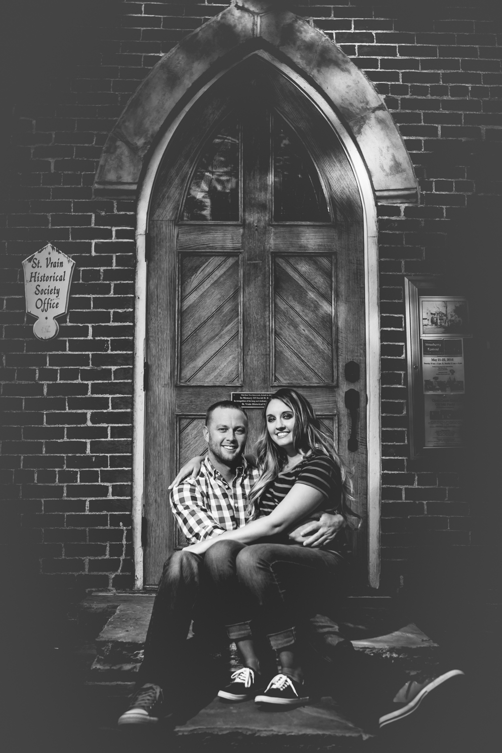Old church door engagements in Longmont, Colorado. Take by Jared M. Gant