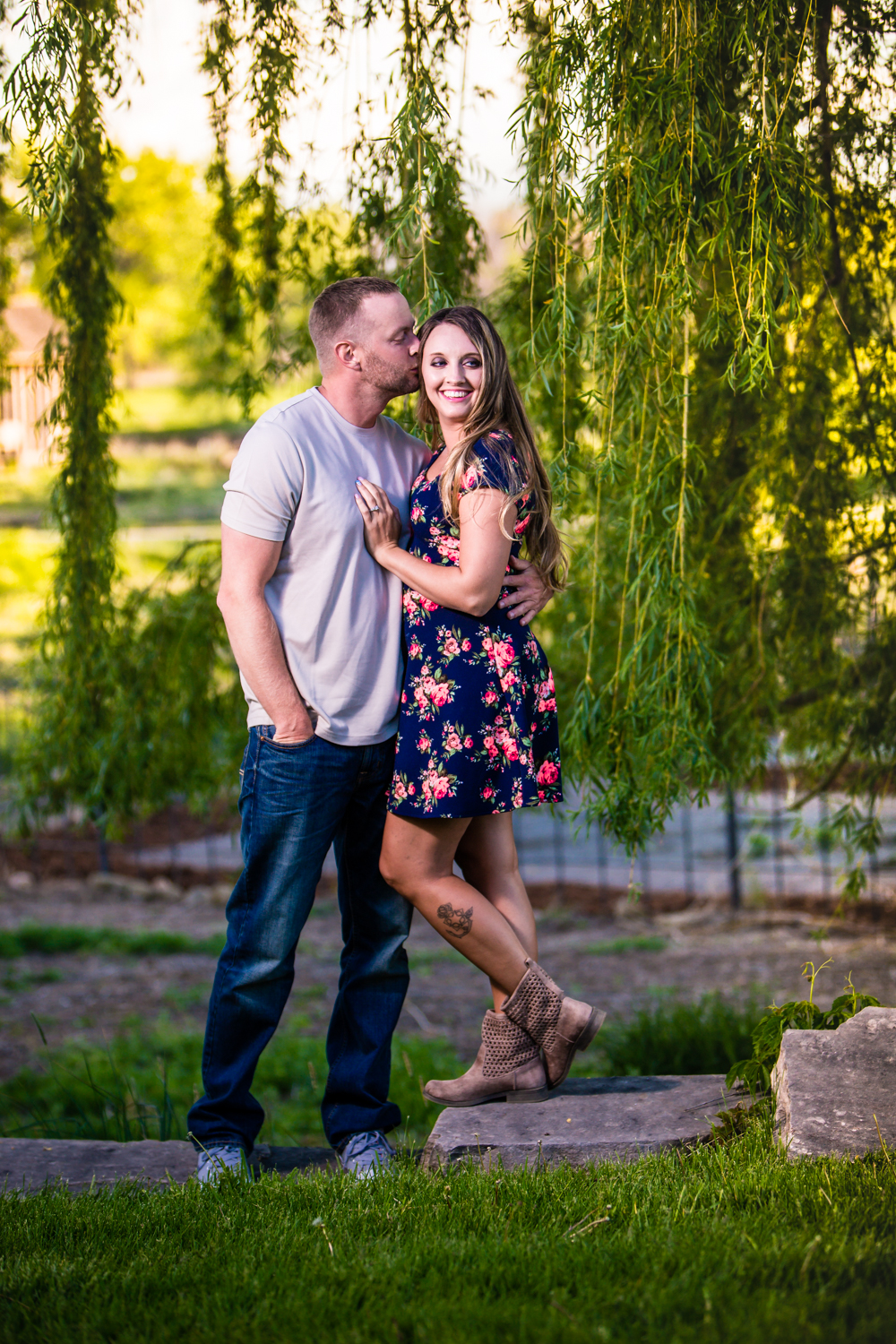Engagments with willow tree at Sandstone Ranch. Take by Jared M. Gant
