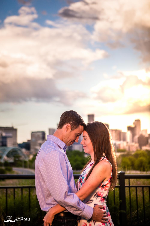 Denver Skyline Engagements photographed by Jared M. Gant.