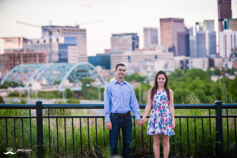 Denver Cityscape Engagement Session photographed by Jared M. Gant.