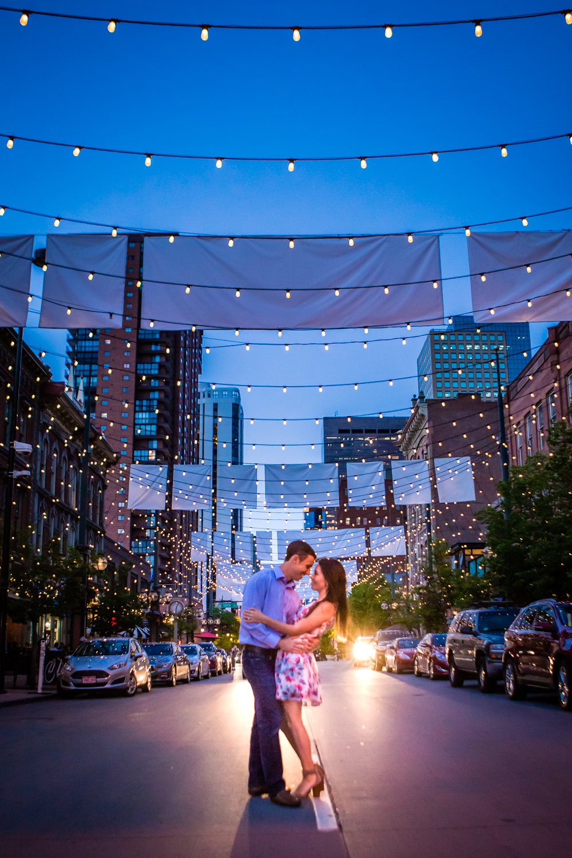 Larimer Street engagements. Denver Colorado.  Photographed by Jared M. Gan