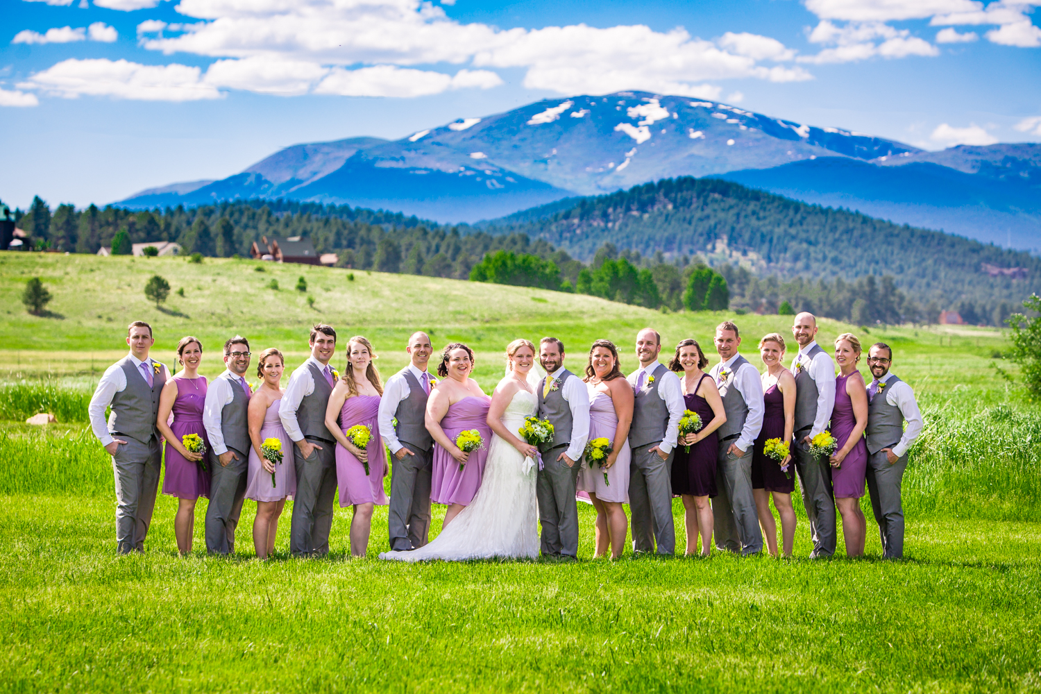 Wedding party. Deer Creek Valley Ranch Wedding. Photographed by JMGant Photography.