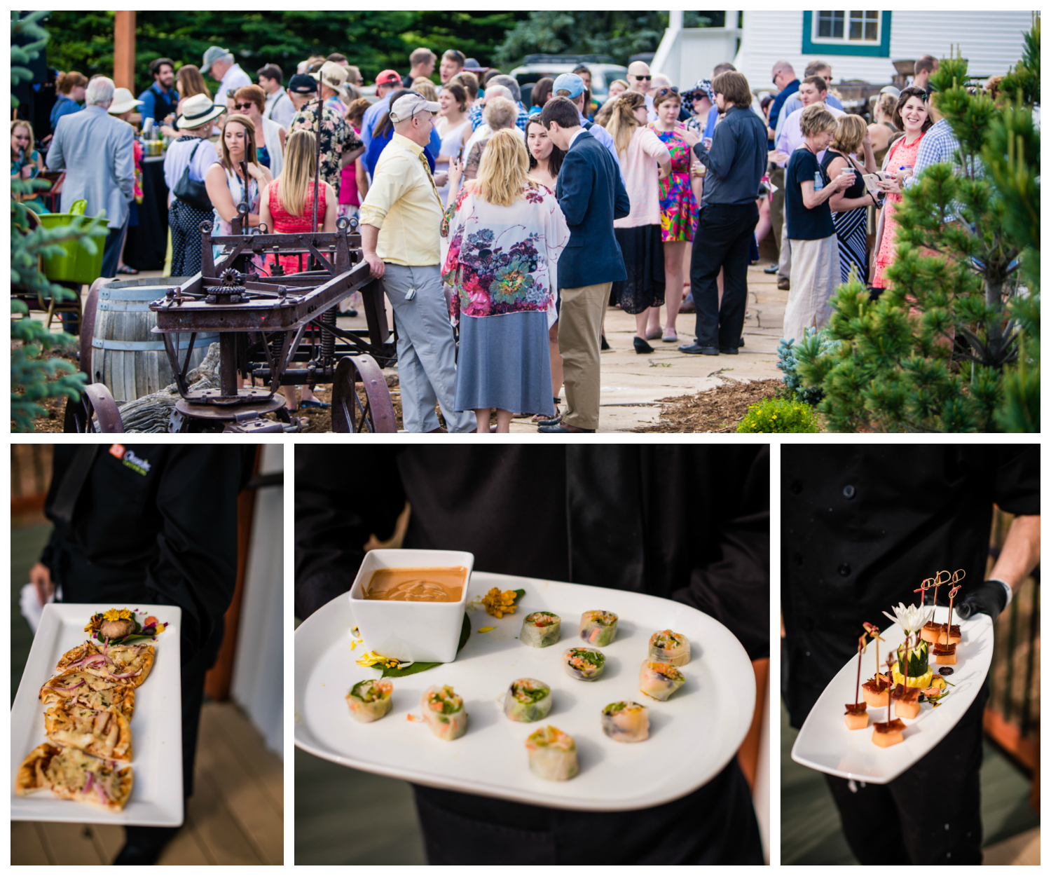 Occasions Catering at Deer Creek Valley Ranch Wedding. Photographed by JMGant Photography.