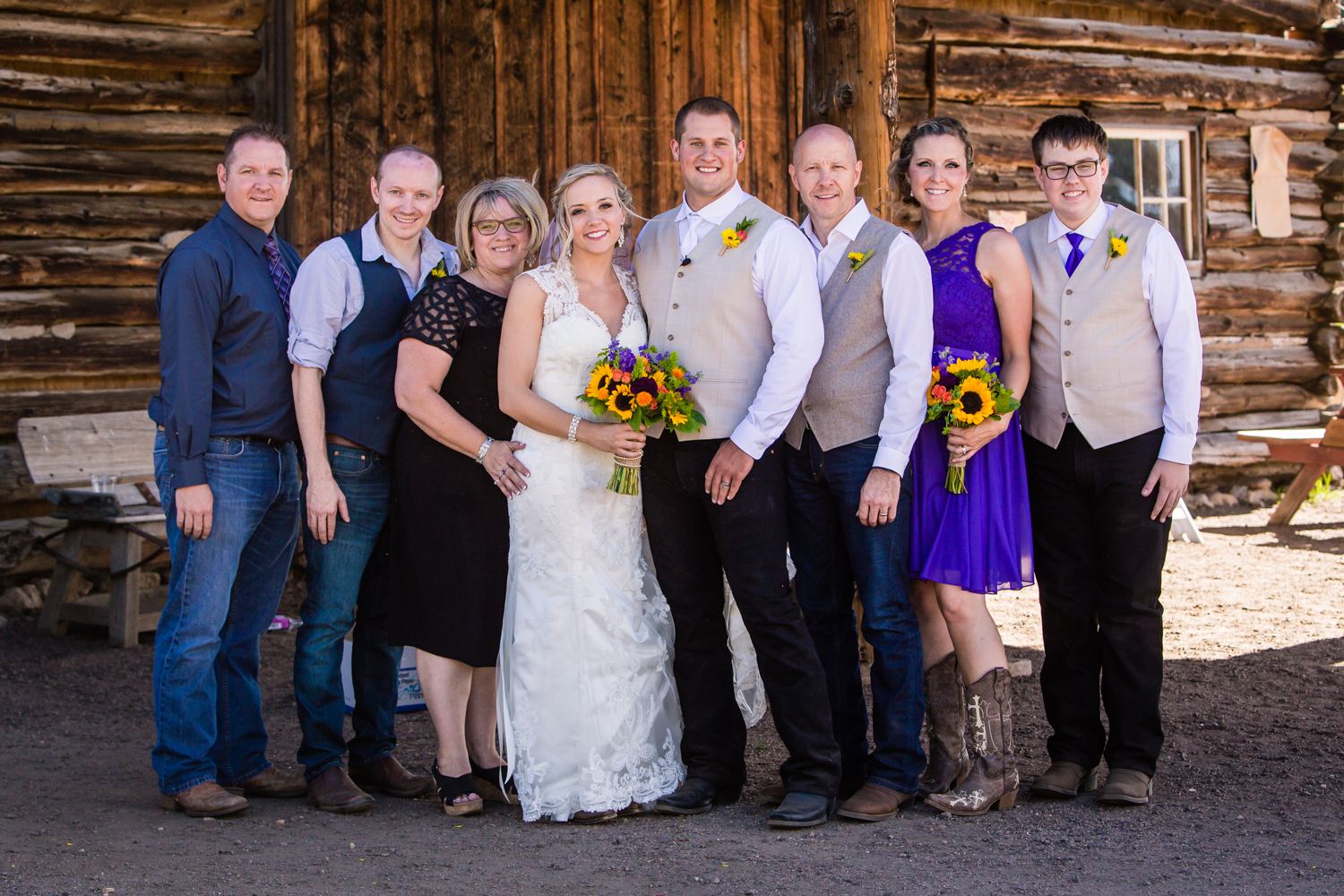 Family formals. Wedding at The barn at Evergreen Memorial. Photographed by JMGant Photography.