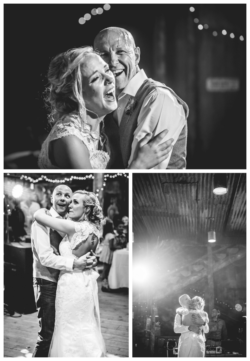 Father daughter dance. Wedding at The barn at Evergreen Memorial. Photographed by JMGant Photography.