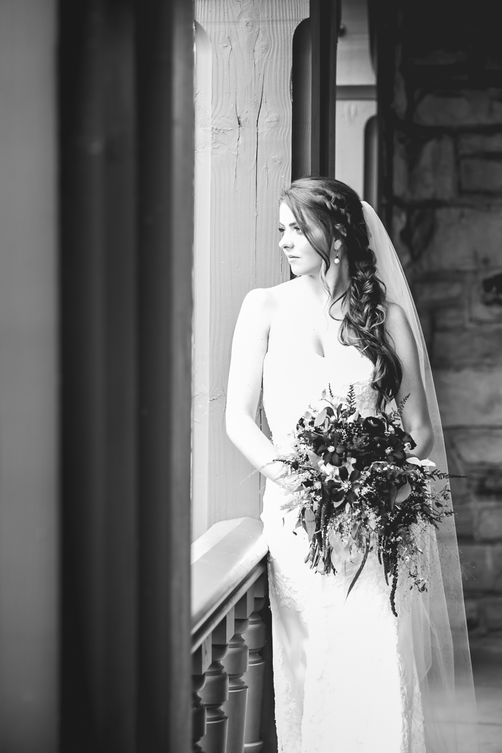 Bride at Highlands Ranch Mansion. Photographed by JMGant Photography.