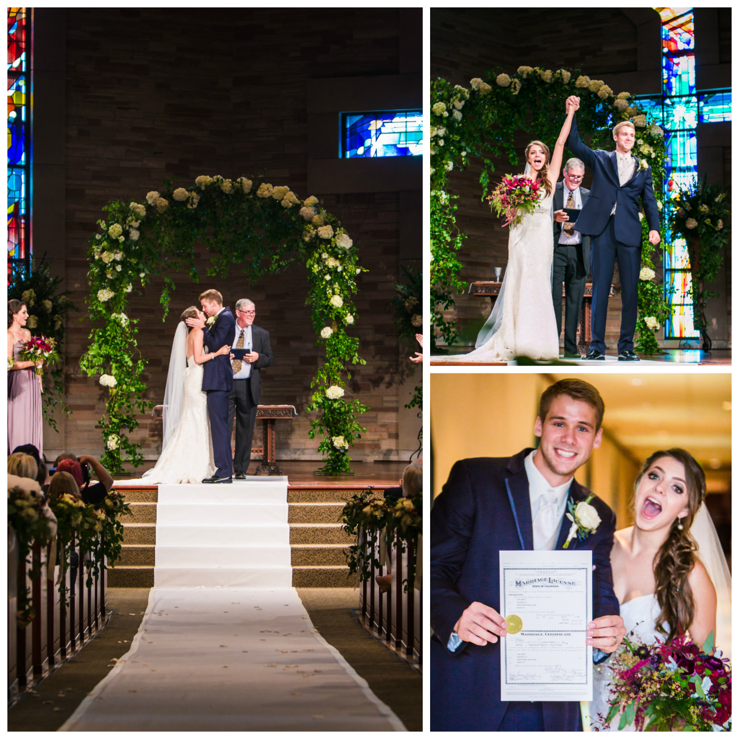 Cherry Hills Community Church wedding ceremony. Photos by JMGant Photography.