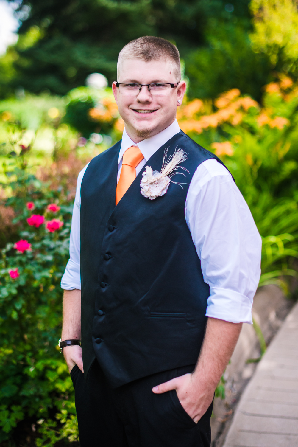 The Groom.Photographed by JMGant Photography.
