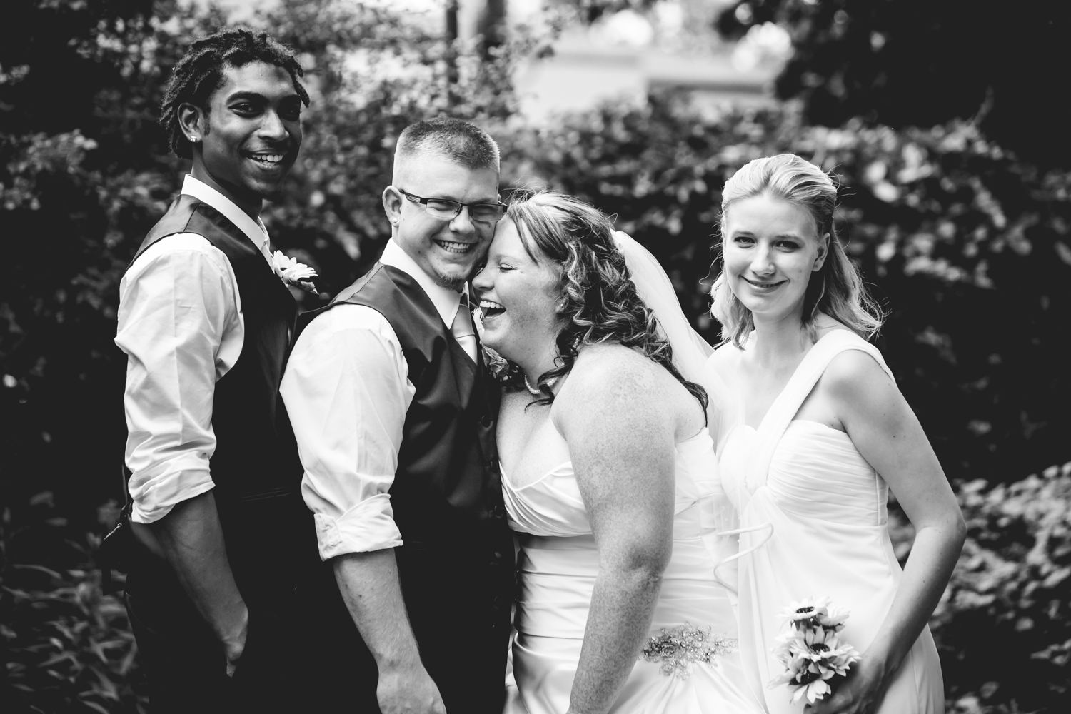 Best man and the maid of honor.Photographed by JMGant Photography.