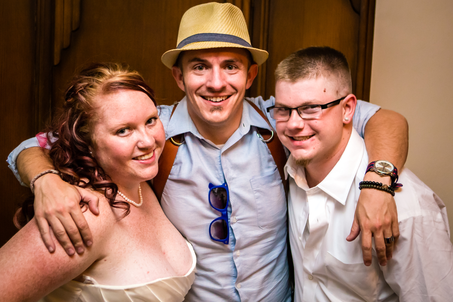 Bride and groom with their photographer.Photographed by JMGant Photography.