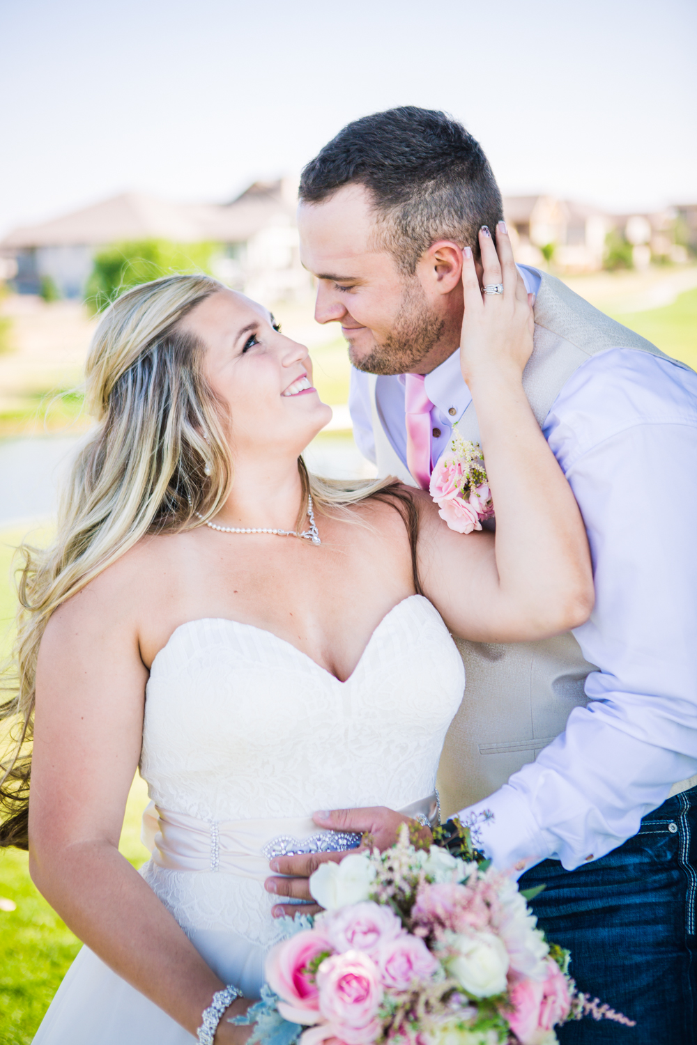 Wedding picture at the Big Red Barn at Highland Meadows Golf Course.Phototgraphed by Jared M. Gant of JMGant Photography.