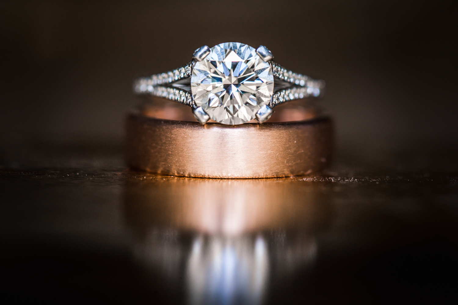 Wedding ring details photographed by JMGant Photography