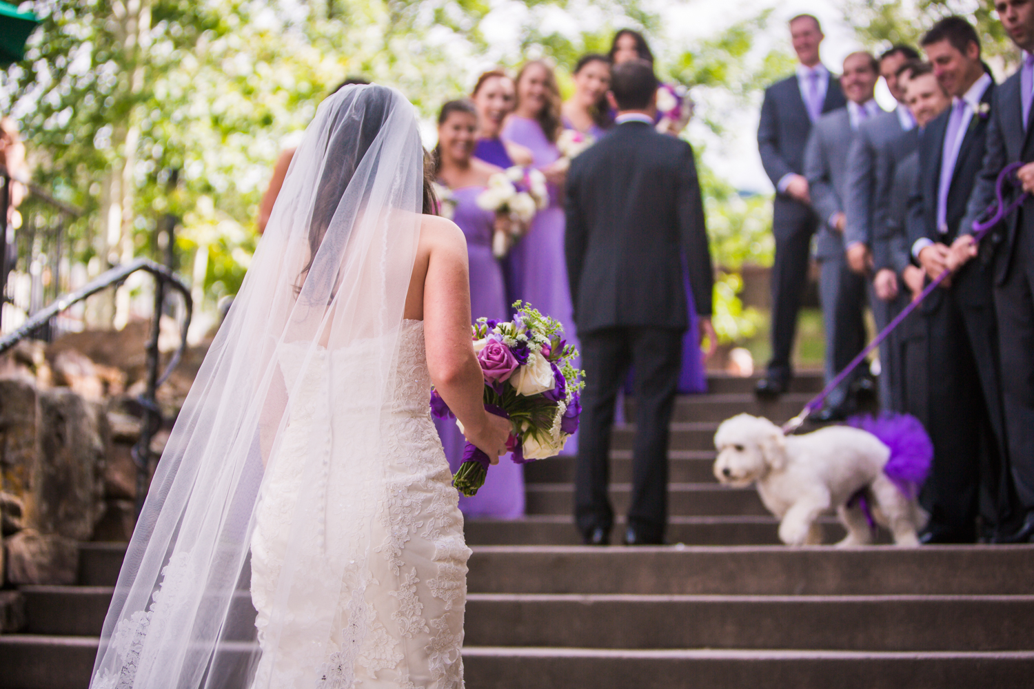 The first look for a Vail Colorado Wedding photographed by JMGant Photography.