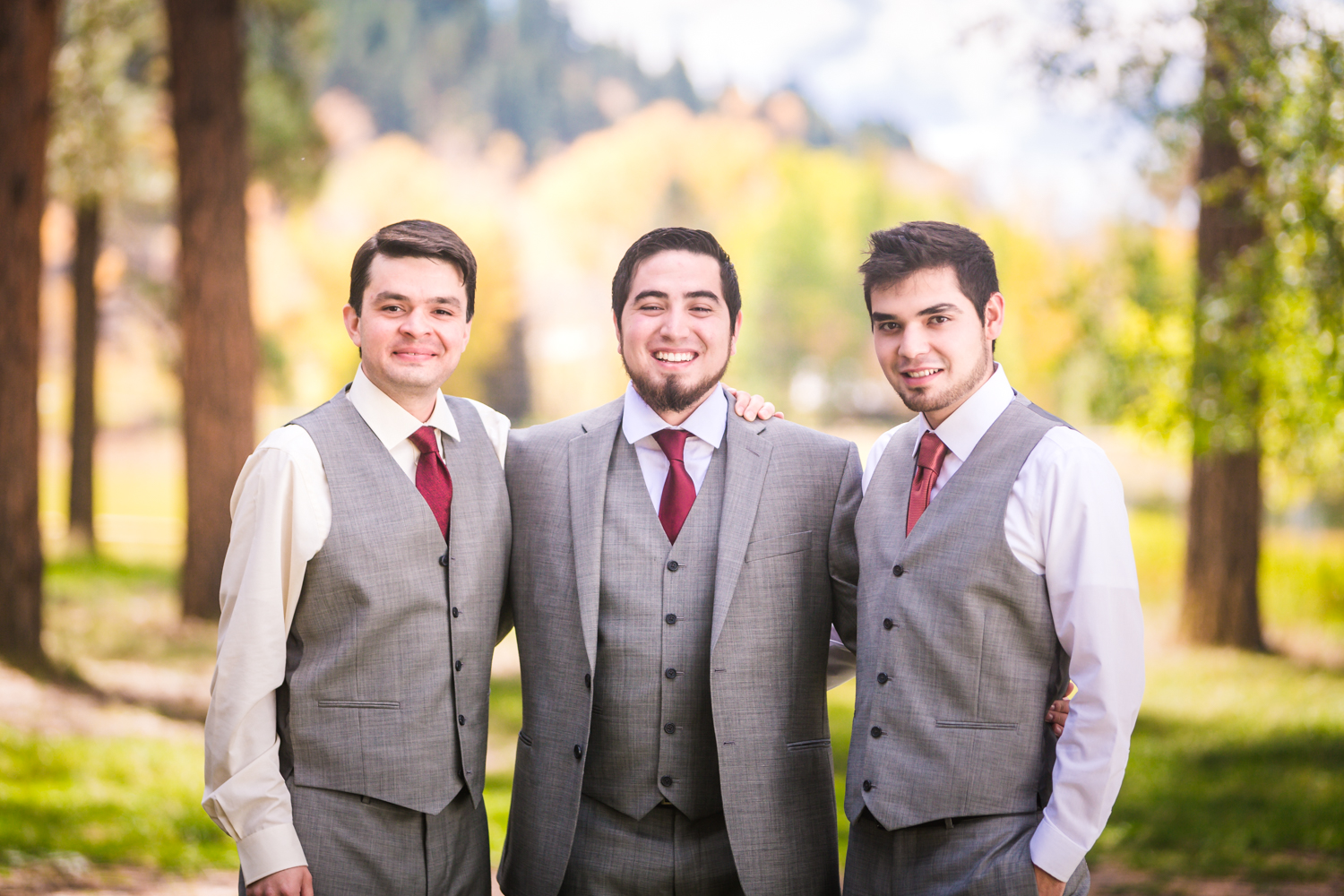 Groom and his brothers by JMGant Photography.
