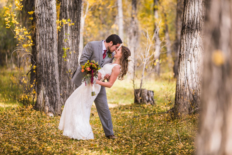 Fall wedding by JMGant Photography.
