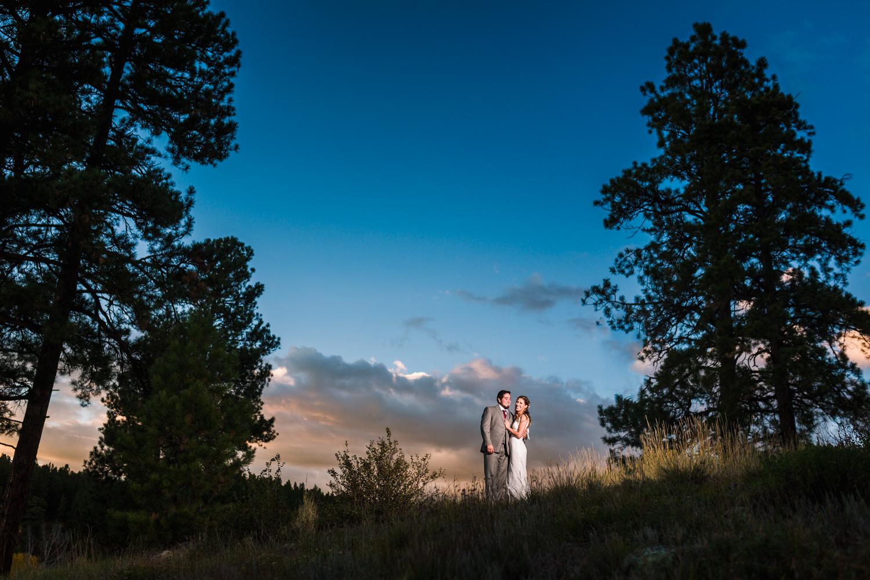 Fall sunset wedding by JMGant Photography.