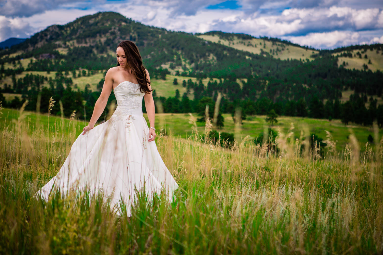 Bride in the Colorado Mountains