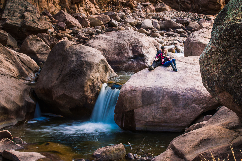 Waterfall Engagement near Lyons Colorado