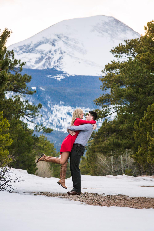 Longs Peak with Couple