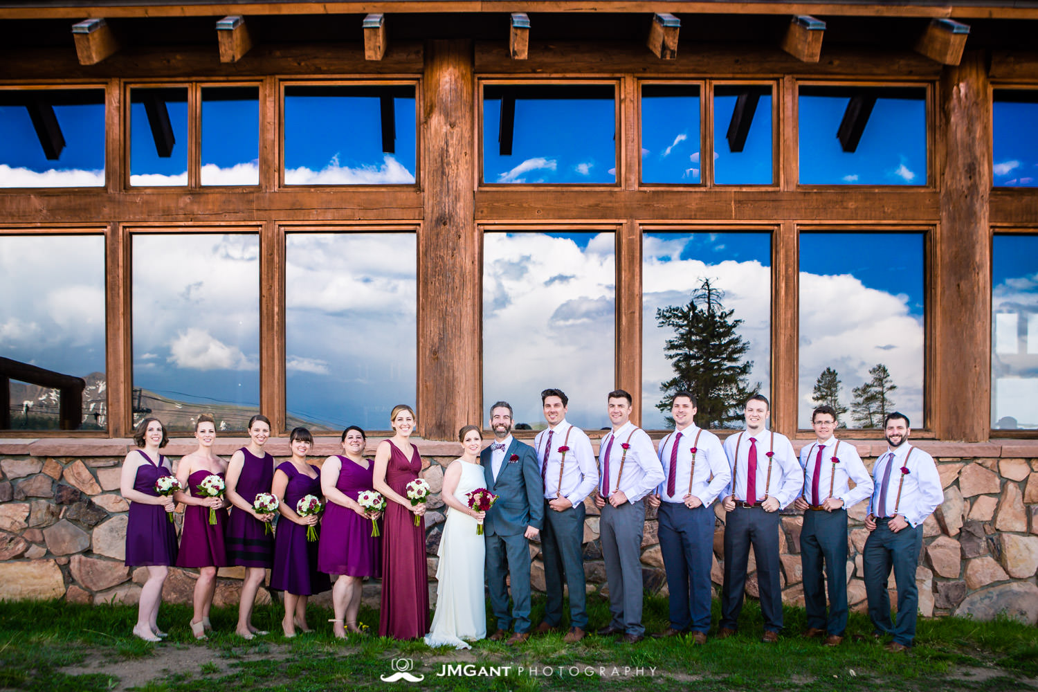 Wedding party at Winter Park wedding photographed by JMGant Photography.
