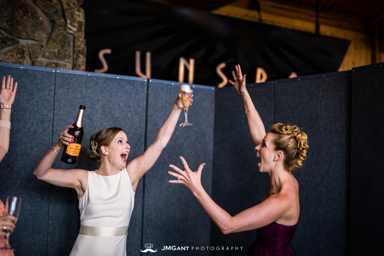 Lodge at Sunspot Wedding photographed by JMGant Photography.