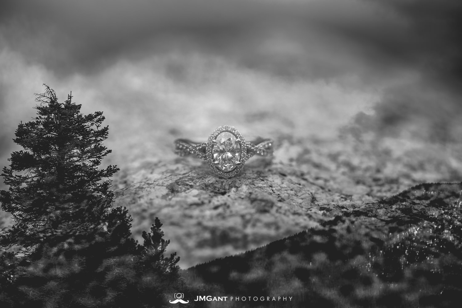Double exposure wedding ring photo by JMGant Photography.