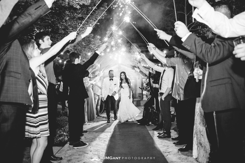Vail Colorado Wedding | Sparkler exit | Colorado wedding photographer | © JMGant Photography | http://www.jmgantphotography.com/