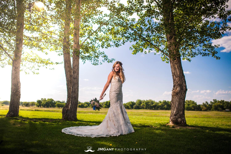 Platte River Fort Wedding | Bridals on a sunny day | Greeley Colorado wedding photographer | © JMGant Photography | http://www.jmgantphotography.com/