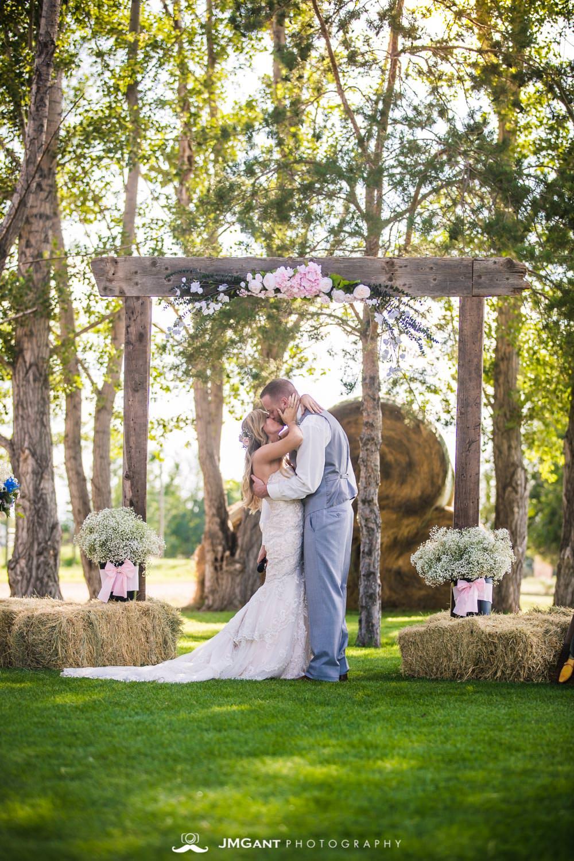 Platte River Fort Wedding | wedding ceremony | Greeley Colorado wedding photographer | © JMGant Photography | http://www.jmgantphotography.com/